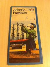 Vintage 1974 ESSO Atlantic Provinces Ferry Connections Road Map New Brunswick