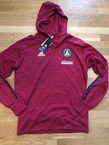Adidas Atlanta United FC Mens 1/2 Zip Hoodie Size Large Nwt