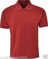 Mens Polo Shirt Summer Casual Top Polycotton TShirt With Chest Pocket Size S-3XL