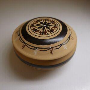 Récipient coffret bijoux vide-poche céramique terre cuite vintage art déco N7648