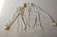 Lee Mathews polka dots sheer shirt Size 0 US XS