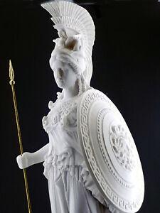 Athena Minerva Greek Roman Goddess Cast Marble Sculpture Statue 27.56 in