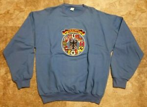 "Early 90's Vintage DS Germany Deutschland Blue Souvenir Sweatshirt XL 21"" x 27"""