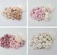 Special 35 Paper Flowers Kit Pack Scrapbook DIY Wedding Home Craft Supply R21E