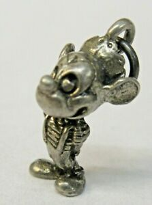 Disney MICKEY MOUSE NEPHEW Sterling Silver 1940's solid cast figural charm mint