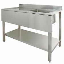 Commercial Sink Stainless Steel Catering Kitchen Single Bowl 1.0 Unit LH B1431