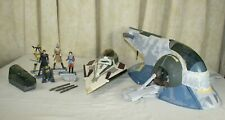STAR WARS ~ Toys R Us Exclusive SLAVE 1 + 5 Action Figures + JEDI Star Fighter