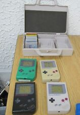 4 Nintendo game boy hand held  video gamewith 8 games & plastic nintendo box