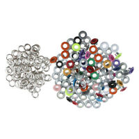 100pcs Assorted Color Metal Eyelets Buckle for Leathercraft DIY 3mm