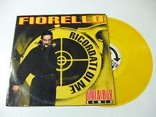 """Fiorello – Ricordati Di Me - Disco Mix 12"""" Vinile GIALLO ITALIA 1993 EuroHouse"""