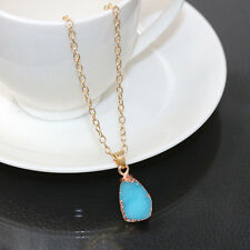Quartz Stone Necklace Natural Crystal Mint  Irregular Pendant  Lady's Jewelry