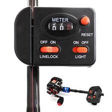 99.9m Fishing Line Counter Clip on Rod Meter Gauge Depth Finder Digital Jigging