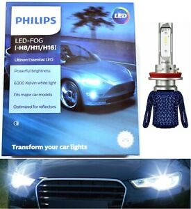 Philips Ultinon LED Kit 6000K White H11 Fog Light Two Bulbs Replace OE Fit Lamp