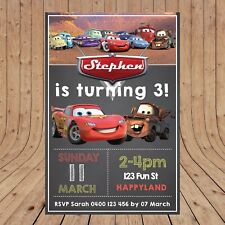 Personalised  DISNEY CARS Birthday Invites Invitations DIGITAL YOU PRINT