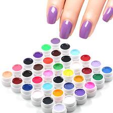 36pcs Mix Pots Tips Colors Builder Cover UV Nail Art Gel Manicure Decor Set New