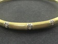 Brillant-Armreif - 14 Karat (585) Gelb-Gold - 3 Brillanten à 0,05 Karat