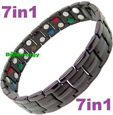 7in1 TITANIUM strong Magnetic Energy Armband Power Bracelet Bio GERMANIUM 69882