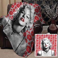 147x147cm Doux Couverture polaire Housse MARILYN MONROE lèvres Design lit