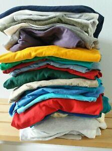 Wholesale Lot 40 Vintage Blank T Shirts USA Made Mens Single Stitch 80s 90s
