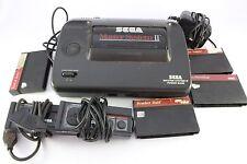 Sega Master System Console Pal Mark 2 II Pro Wrestling Bomber Raid Tested