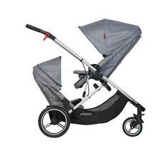 Phil & Teds New Voyager Stroller & Double Kit Grey Marl Brand New Model!!