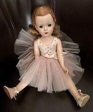 """VINTAGE 18"""" MADAME ALEXANDER Margaret face BALLERINA Doll HARD PLASTIC Walker"""