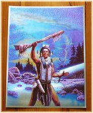 Alu-Bild Indianer,Krieger Western Saloon,Cowboy,Deko,16x21 Alubild USA Häuptling