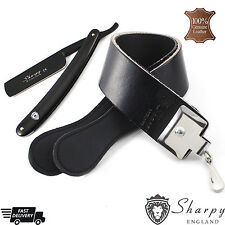 VINTAGE - BARBER SALON STRAIGHT CUT THROAT SHAVING RAZOR With Leather strop/Belt