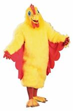 Chicken Mascot Costume 8 Pc Yellow Faux Fur Suit Mask Socks Rubber Gloves & Feet