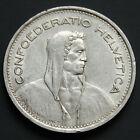 Piece argent Suisse 5 francs Tête de Berger argent 835‰ Swiss silver coin