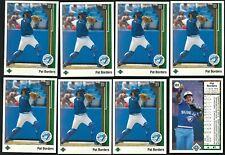 1989 UPPER DECK TORONTO BLUE JAYS PAT BORDERS ROOKIE CARD 25 LOT NR-MINT/MINT