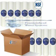 """10 NSF Sediment Water Filters 10"""" Removes Sediment/Rust/Silt 5 Microns"""