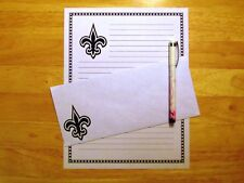 Fleur de Lis Stationery Writing Set With Envelopes - Lined Stationary