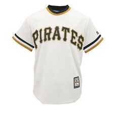 8a147f3a90b Majestic Pittsburgh Pirates Youth White Cooperstown Collection Jersey Yth L