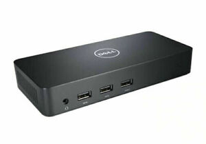 Dell D3100 Superspeed DisplayLink 4K Docking Station with Dell PSU & USB Cable