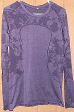 Lululemon Purple Run Swiftly Long Sleeve Shirt 12