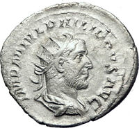 PHILIP I 'the Arab' 247AD Silver  Ancient Roman Coin Eternal Rome  i73269