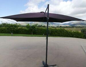 Ombrellone decentrato - Struttura 100% alluminio - 3 x 4 m - Grigio -