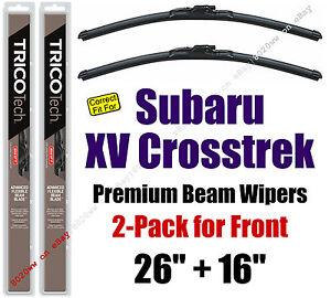 Wipers 2-Pack Premium Wiper Beam Blades fit 2013+ Subaru XV Crosstrek 19260/160