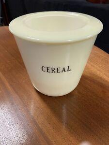 Mckee lite Jadeite Green Round Cereal Canister Storage Jar