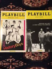Russell Tovey Signed History Boys And A View From The Bridge Playbills