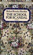 THE SCHOOL FOR SCANDAL BY RICHARD BRINSLEY SHERIDAN PREOWNED PAPERBACK BOOK