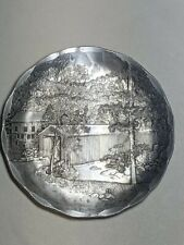 Wendell August Forge 75th Anniversary Covered Bridge Aluminum Coaster Small...