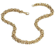 """Stainless Steel Yellow 7MM Byzantine Necklace - 18"""" Inch"""