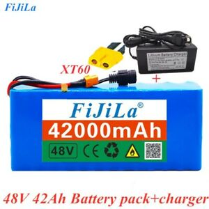 48V Li-ion Battery Pack 54.6v for E-bike Electric bicycle Scooter BMS + Charger