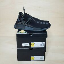 adidas NMD Hu Pharrell Human Race Triple Black Pack Size 10.5, DS BRAND NEW
