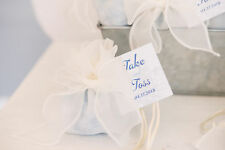 Organza Favour Bag Drawstring With Bow 12 Pack Cream