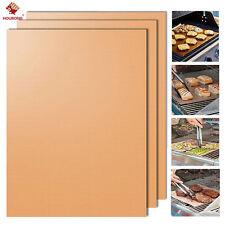 2Pcs/Pack Kitchen Copper Chef Grill & Bake Mats Outdoor BBQ Tools BBQ Pad Tool