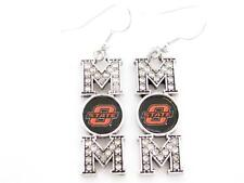 Oklahoma State Cowboys Mom Crystal Silver Earrings Jewelry Mothers Day Gift OSU