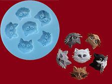Cat Kitten Faces Sugarcraft Cake Decorating silicone mould Set Food Grade